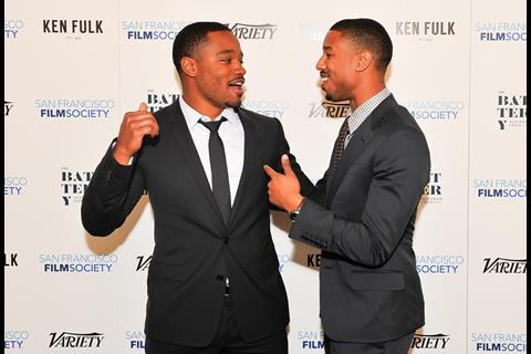 Fruitvale Station director Ryan Coogler and star Michael B Jordan.